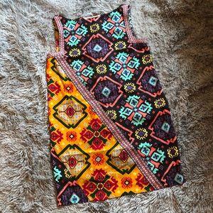 RACHEL Rachel Roy geometric sheath dress with trim